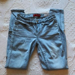 guess low waisted skinny jeans